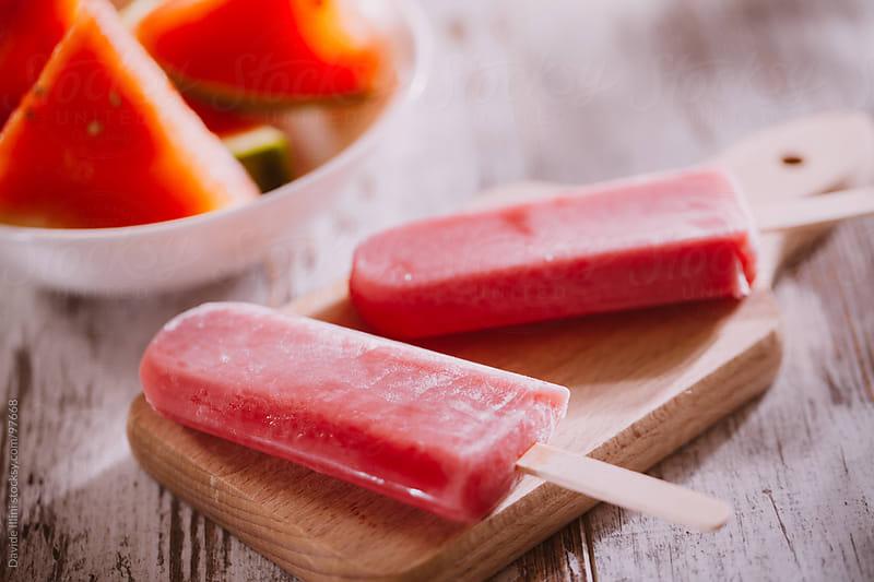 Fruit popsicles by Davide Illini for Stocksy United