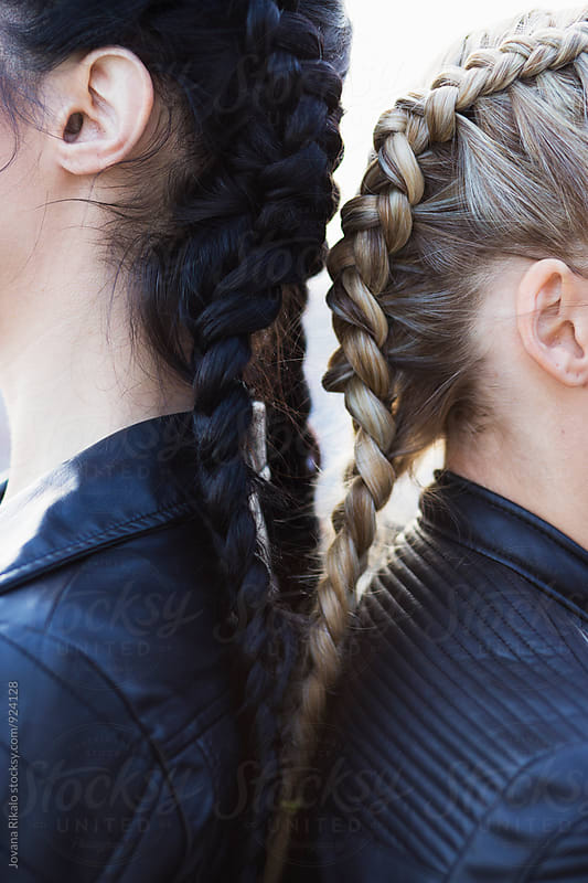 Friend braids close up by Jovana Rikalo for Stocksy United