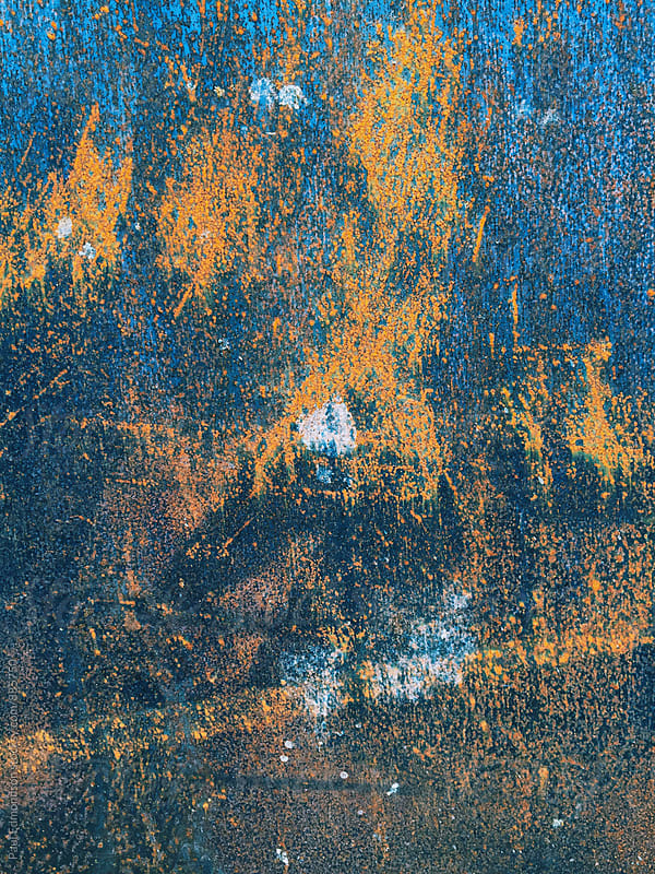 Close up of slabs of rusty metal by Paul Edmondson for Stocksy United
