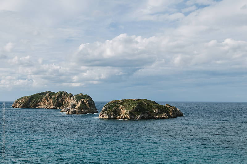 Lonely Islands in the Mediterranen Sea by VICTOR TORRES for Stocksy United