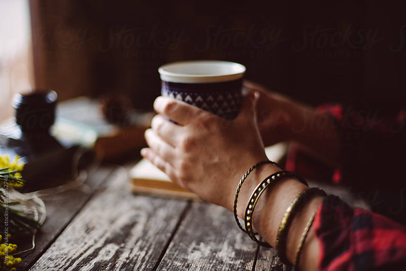 Woman drinks  coffe by Jovana Vukotic for Stocksy United