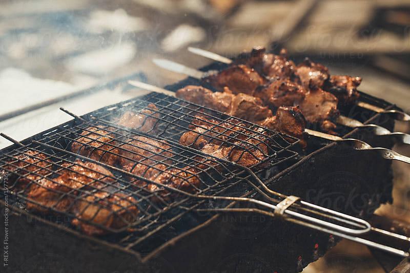 Meat shish kebab by Danil Nevsky for Stocksy United
