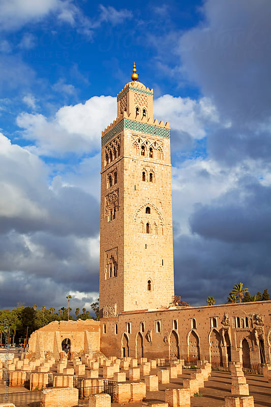 The minaret of the Koutoubia Mosque in Marrakech, Morocco, North Africa by Gavin Hellier for Stocksy United