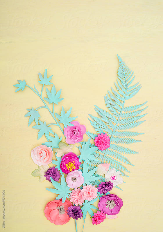 Pastel flowers by Alita Ong for Stocksy United