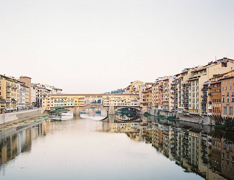 Ponte Vecchio Florence at Sunset  by Vicki Grafton Photography for Stocksy United