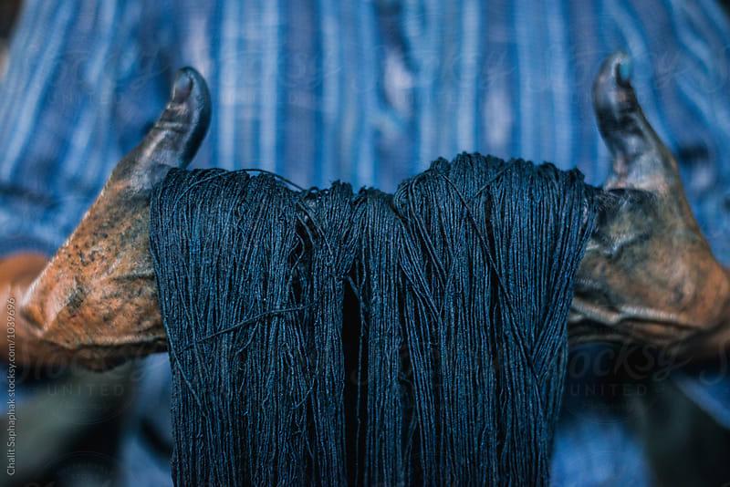 Natural Indigo Dye by Chalit Saphaphak for Stocksy United