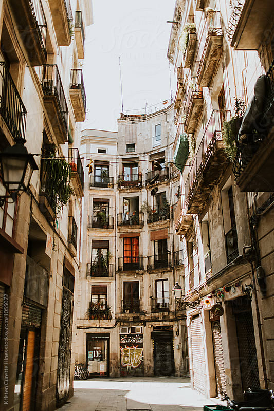 Old streets of the Gothic Quarter of Barcelona, Spain by Kristen Curette Hines for Stocksy United