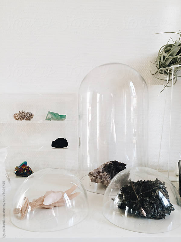 Collection of crystals and minerals by Lyuba Burakova for Stocksy United