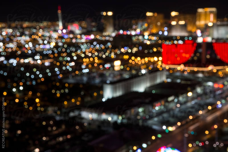 Out of focus image of Las Vegas at night. by Robert Zaleski for Stocksy United