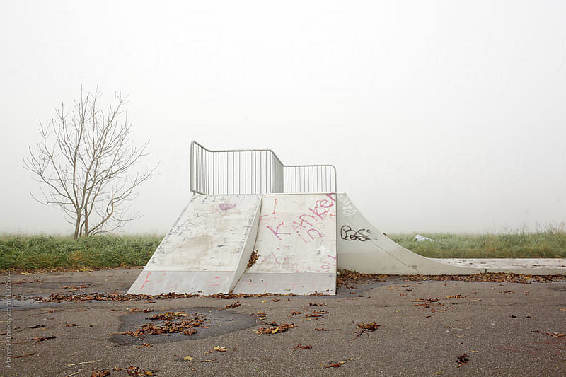 Skateramp in the middle of nowhere by Marcel for Stocksy United