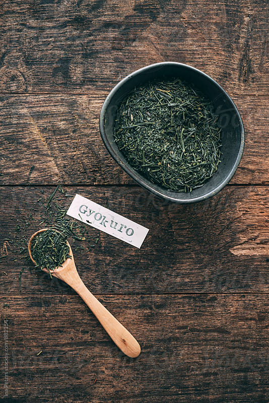 Food: Japanese green tea (Gyokuro)  by Ina Peters for Stocksy United