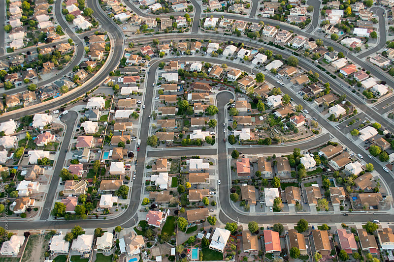 Ariel Photography of Albuquerque New Mexico With Urban Sprawl Subdivision Development Road Network by JP Danko for Stocksy United