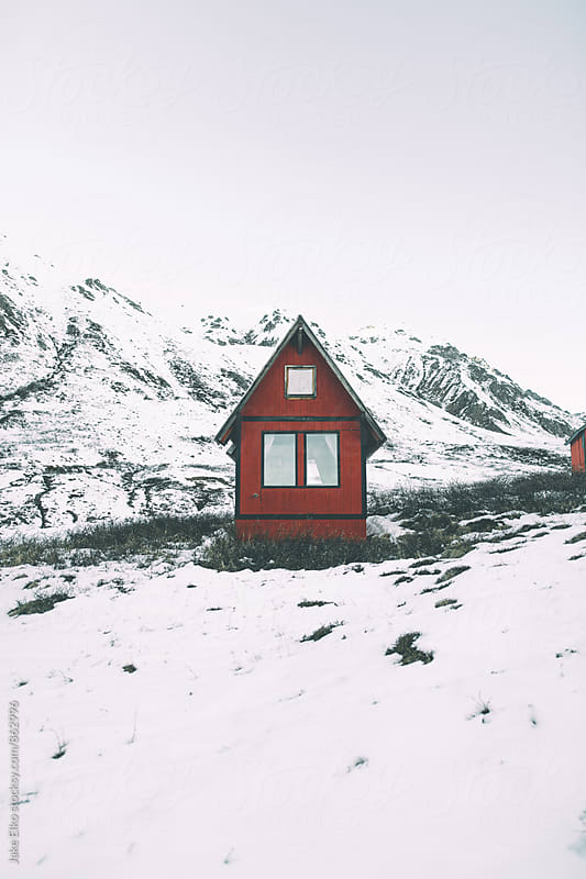 A Lonely Cabin Up Hatcher Pass by Jake Elko for Stocksy United