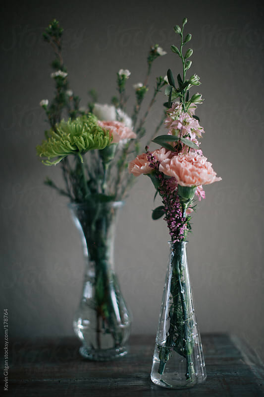 Two Bouquets in Vases by Kevin Gilgan for Stocksy United