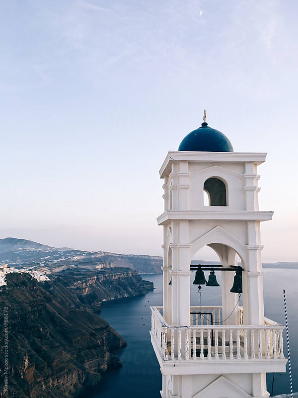 Bell tower, Santorini by Kirstin Mckee for Stocksy United