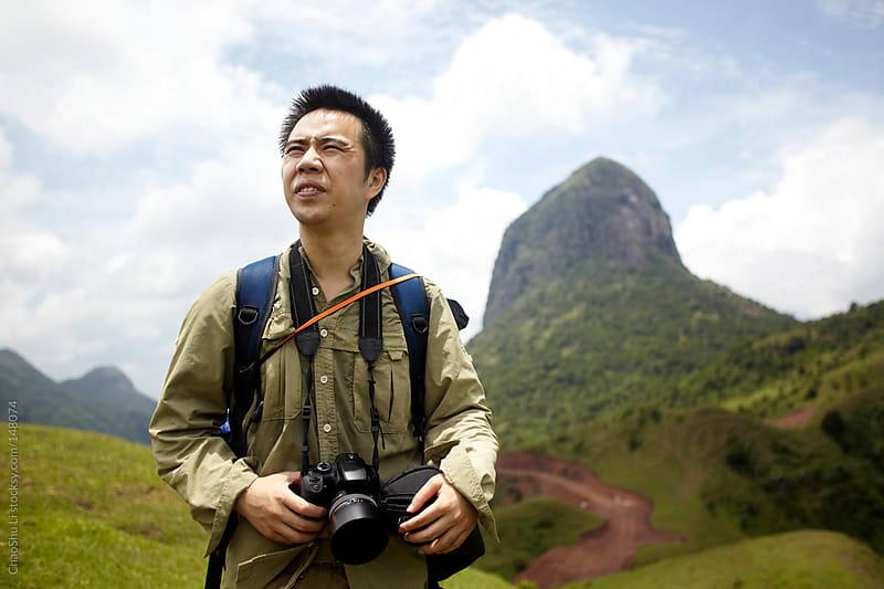 Travelers among Mountains by ChaoShu Li for Stocksy United