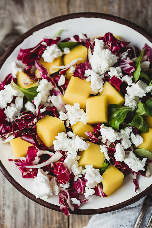 Mango salad by Tatjana Ristanic for Stocksy United