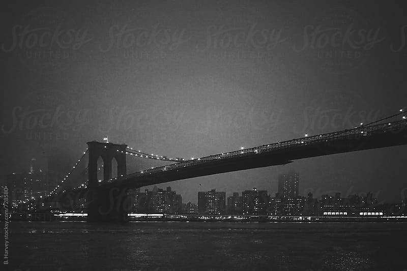 Brooklyn Bridge After Sundown by B. Harvey for Stocksy United