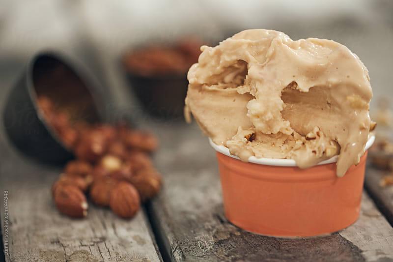 Hazelnut Ice-Cream by Lumina for Stocksy United