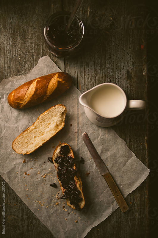 Bavarian Bread Rolls and Milk by Brkati Krokodil for Stocksy United