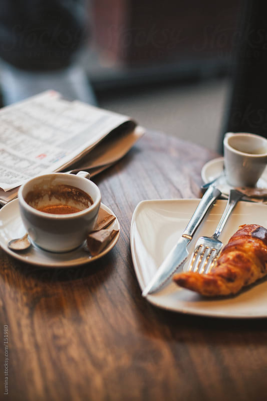 Coffee and Croissant by Lumina for Stocksy United