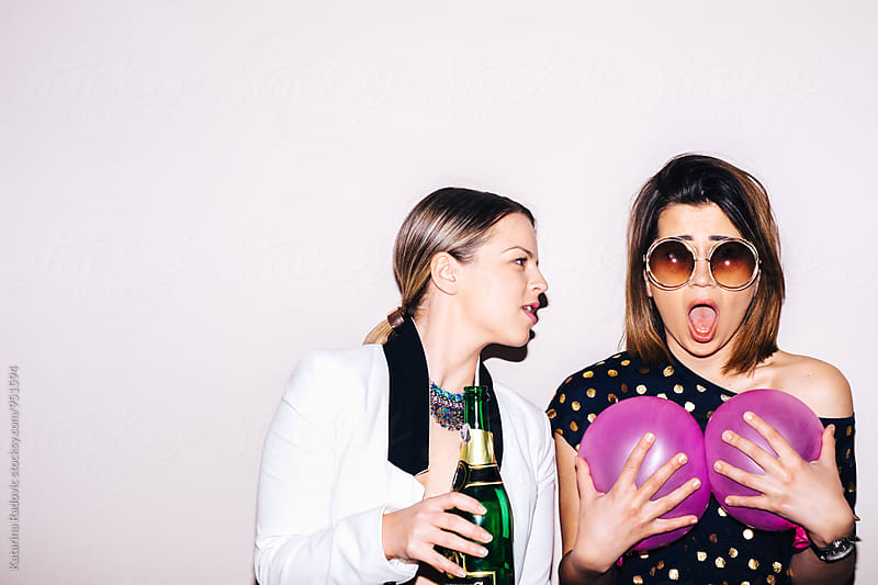 Two Funny Party Girls by Katarina Radovic for Stocksy United
