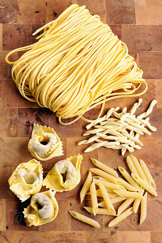 Different sorts of pasta by Ina Peters for Stocksy United