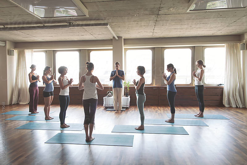 Yoga Class in Namaste by Julien L. Balmer for Stocksy United