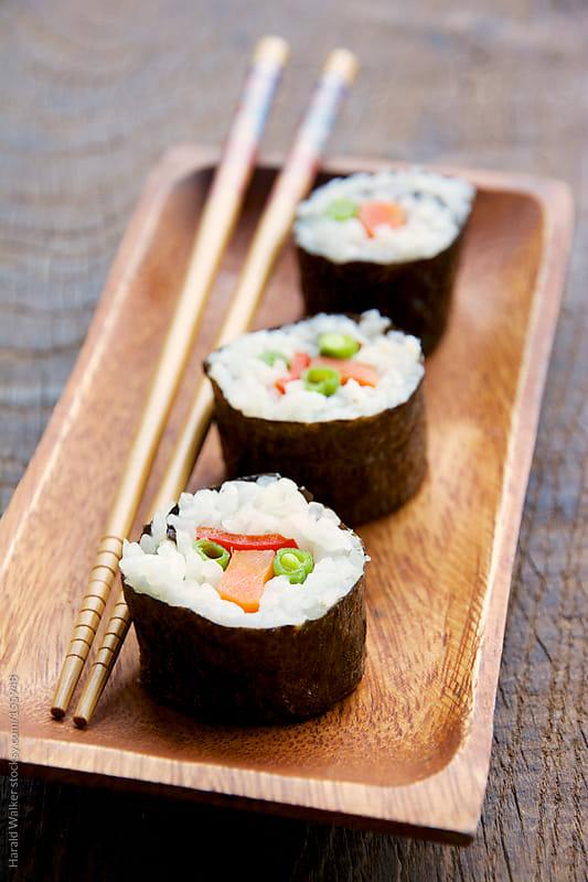 Vegetarian Sushi by Harald Walker for Stocksy United