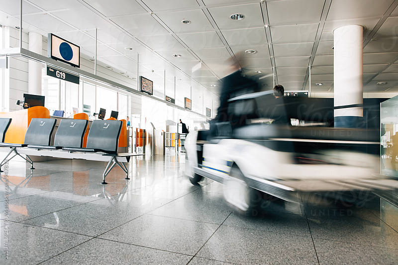 Airport Gate in Modern Airport by Julien L. Balmer for Stocksy United