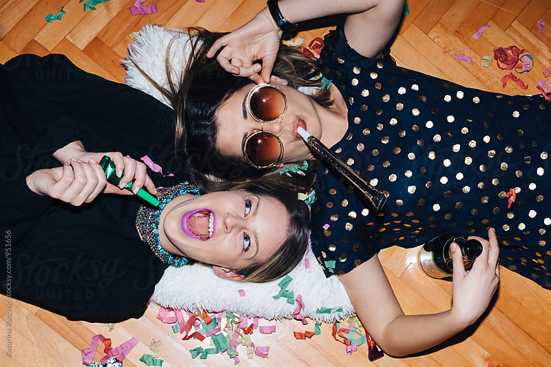 Two Female Friends Having a Good Time by Katarina Radovic for Stocksy United