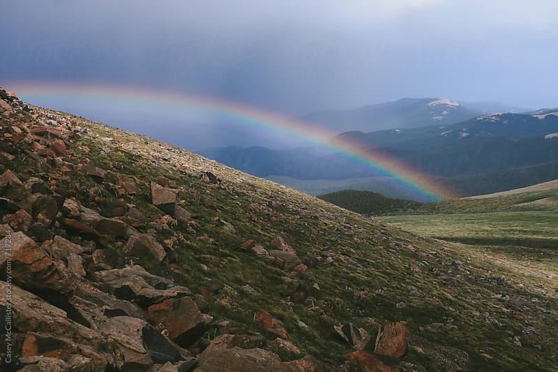 Mountain Rainbow by Casey McCallister for Stocksy United