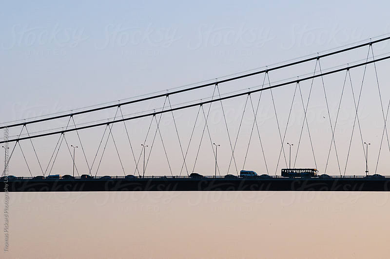 Vehicles crossing a bridge, Istanbul Turkey. by Thomas Pickard for Stocksy United