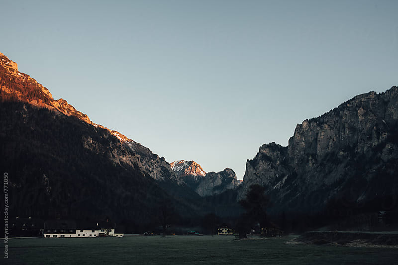 Sunrise in the mountains by Lukas Korynta for Stocksy United