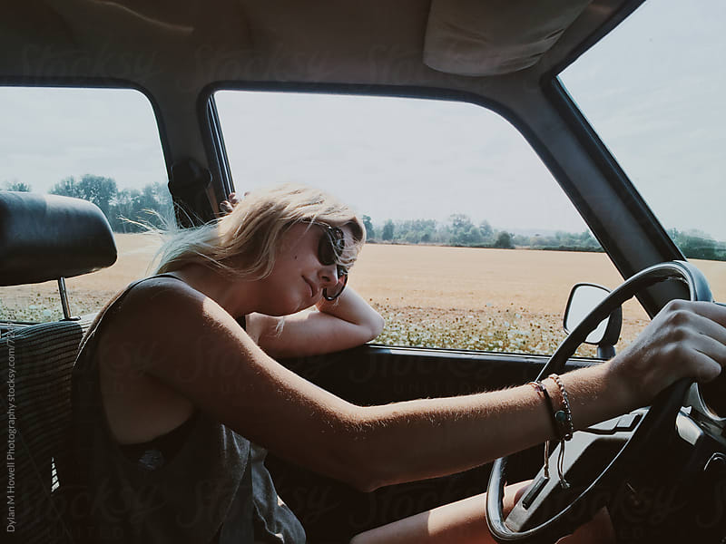 Driving across the country by Dylan M Howell Photography for Stocksy United