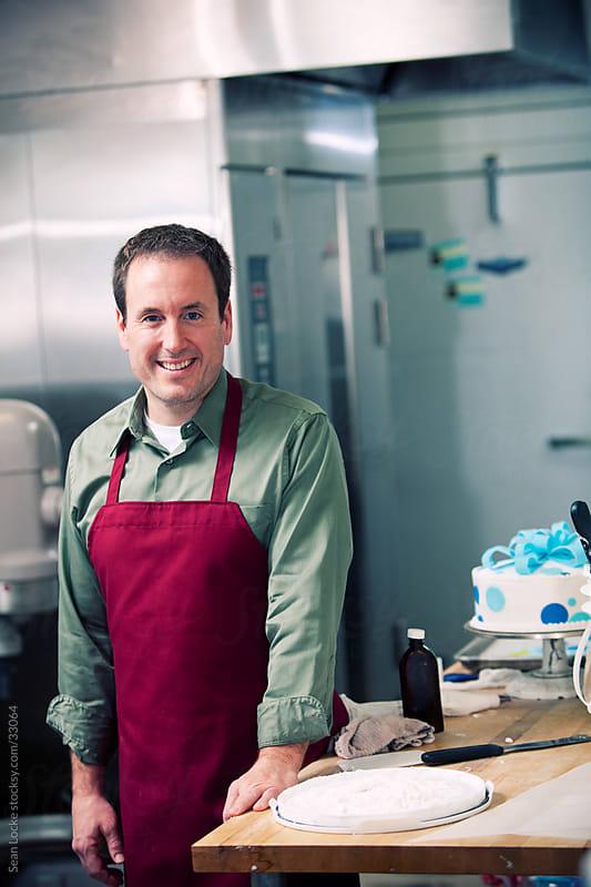 Bakery: Bakery Employee in Work Area by Sean Locke for Stocksy United