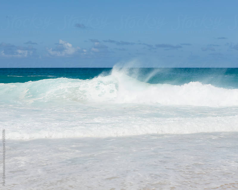Breaking waves, North Shore, Oahu, Hawaii by Paul Edmondson for Stocksy United