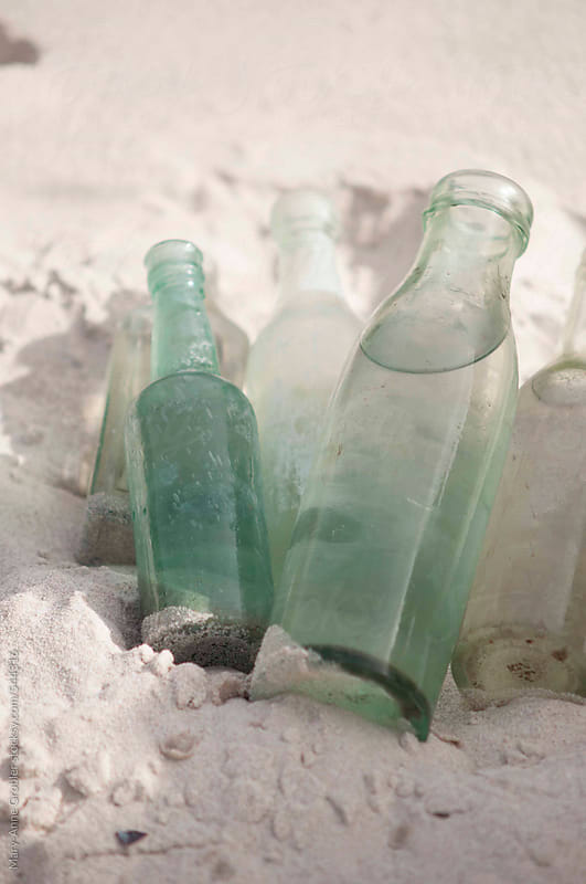 Vintage blue bottle by Mary-Anne Grobler for Stocksy United