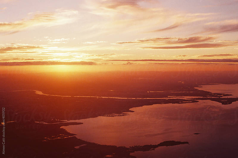 Sunset from the sky by Aimee Catt for Stocksy United