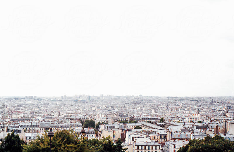 Paris Cityscape by Kara Riley for Stocksy United