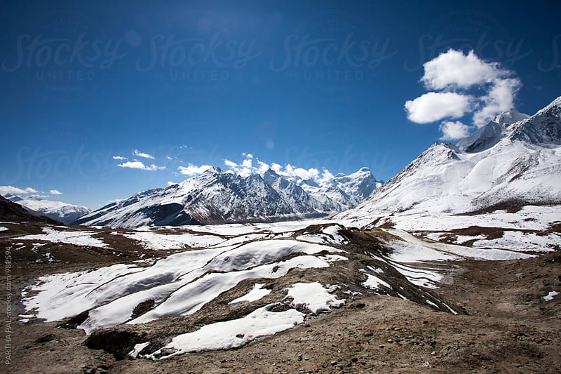 Landscape with ice in  Ladakh by PARTHA PAL for Stocksy United