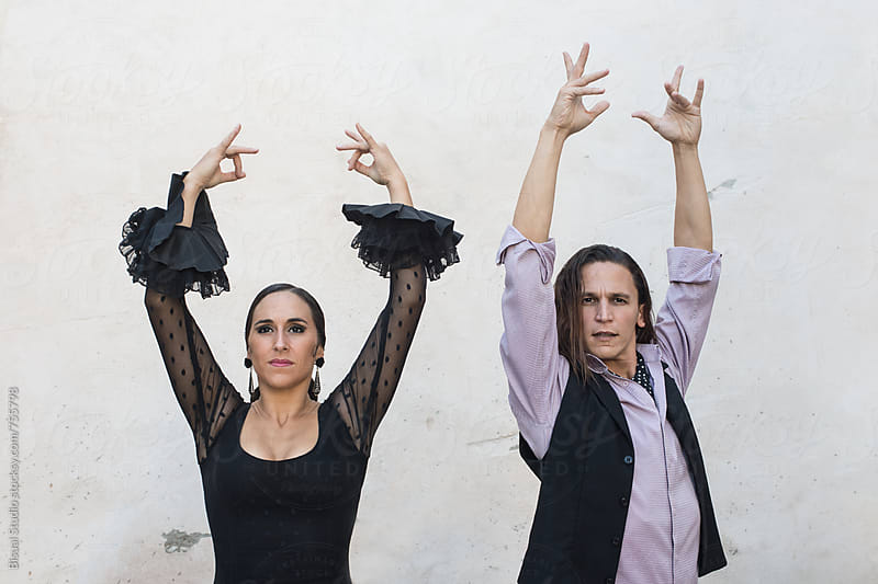 Two professional flamenco dancers, Granada by Bisual Studio for Stocksy United