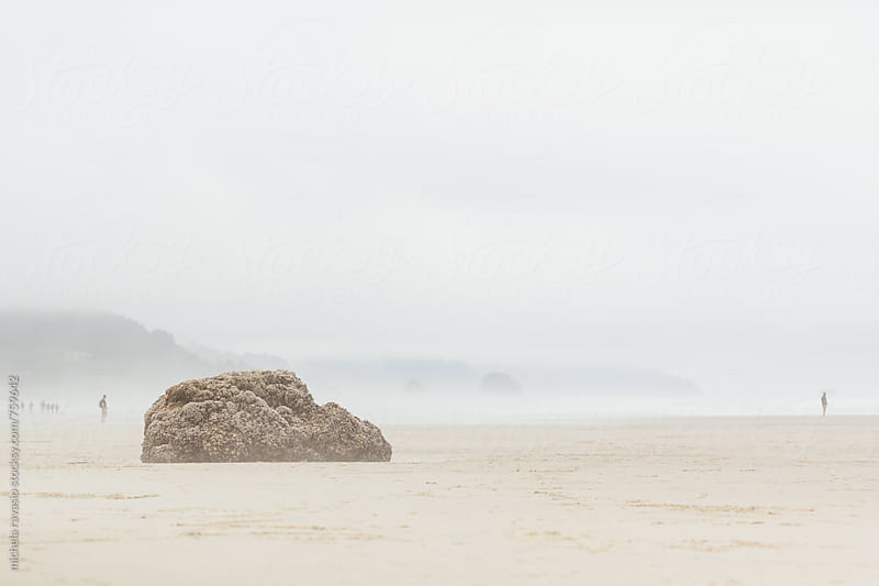 Rock on Cannon Beach by michela ravasio for Stocksy United