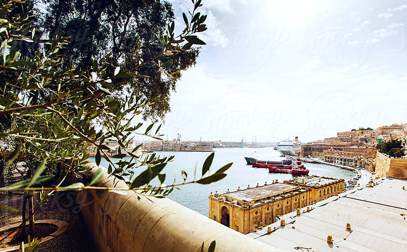 view from Valletta by MEM Studio for Stocksy United