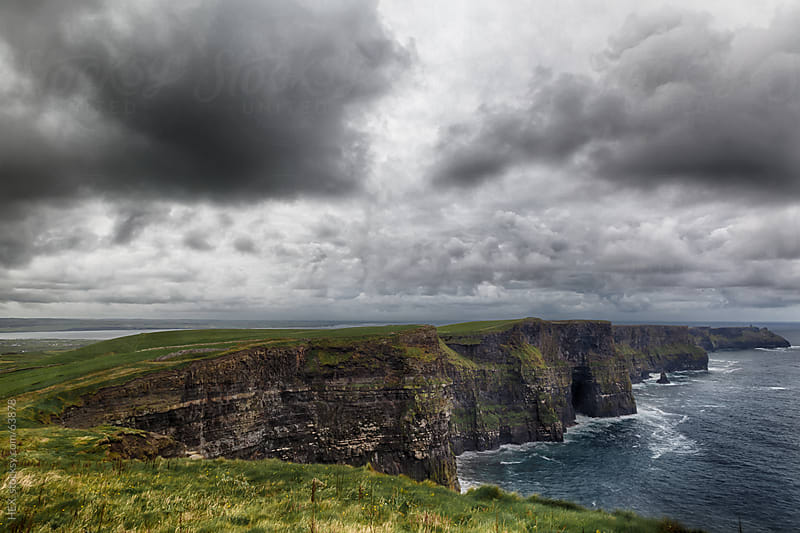 The Cliffs of Moher . HDR by HEX. for Stocksy United