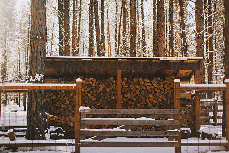Stack of firewood by Dylan M Howell Photography for Stocksy United