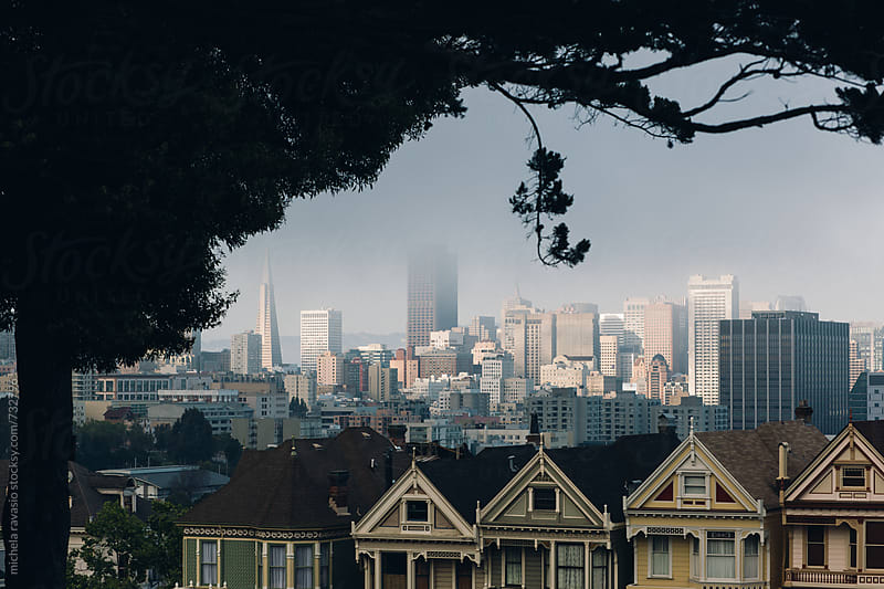 View of San Francisco downtown by michela ravasio for Stocksy United