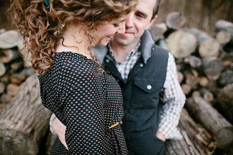 Cute Couple in Word by Brad and Jen Butcher for Stocksy United