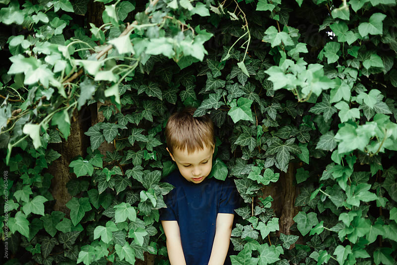 Boy is playing outside by Jovana Vukotic for Stocksy United