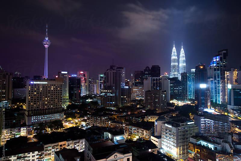 Kuala Lumpur by Night by Goldmund Lukic for Stocksy United